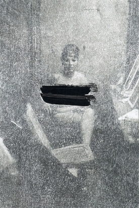 http://williammackrell.com/files/gimgs/th-91_web Cover Up (stripper with bare breats) 2017 22x15cm found image scratched, mounted on aluminumlr.jpg